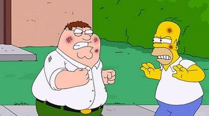 7 imágenes del crossover entre Los Simpson y Padre de Familia