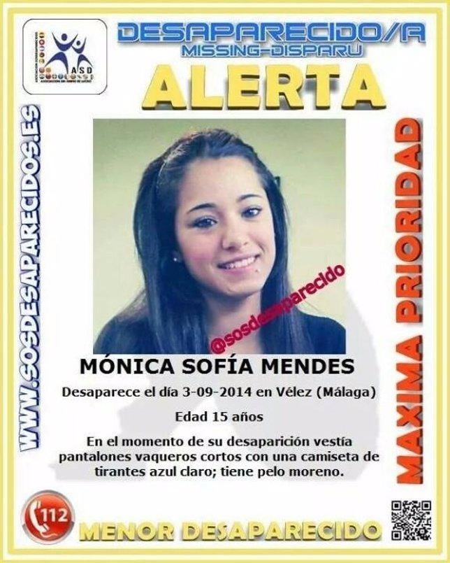 Menor desaparecida en Vélez-Málaga