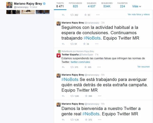 Cuenta oficial de Mariano Rajoy en Twitter