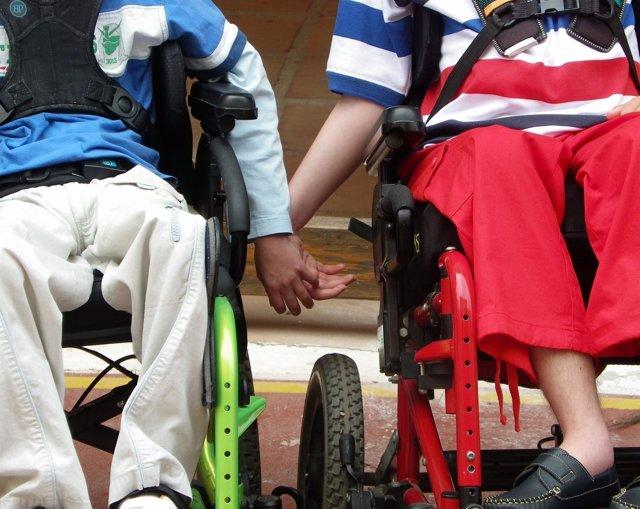 Personas Con Discapacidad En Silla De Ruedas