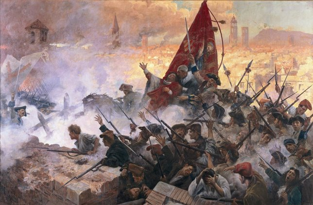 El cuadro 'El once de septiembre de 1714' de Antoni Estruch