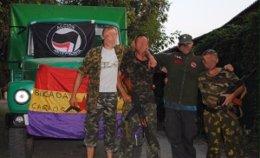 Foto de la 'Brigada Internacional Carlos Palomino' en Ucrania