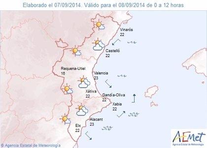 La semana comienza con lluvias y tormentas en Castellón y en el interior y el litoral norte de Valencia