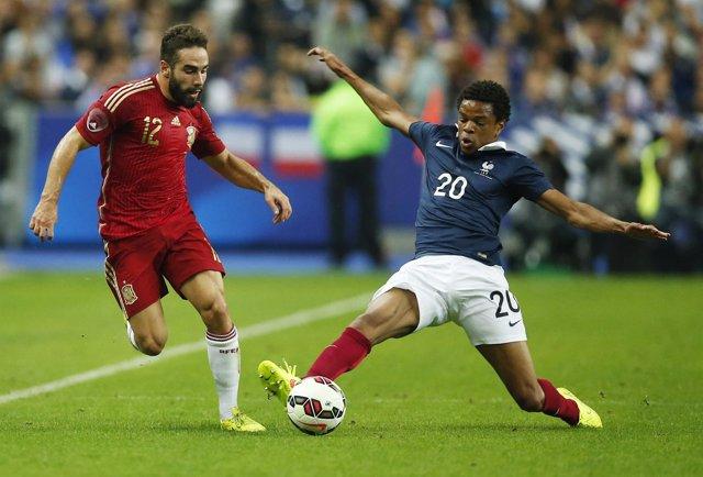 Carvajal Remy selección española Francia amistoso