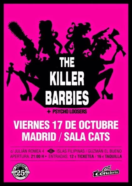 Killer Barbies volverán a reunirse para un concierto en Madrid