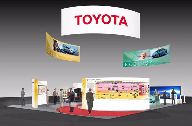 Stand de Toyota en el Congreso ITS de Detroit