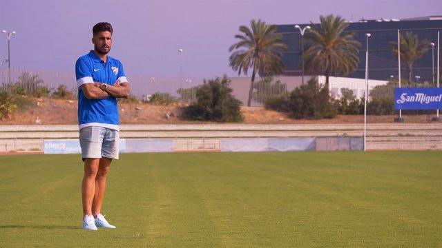 Samuel García, delantero del Málaga