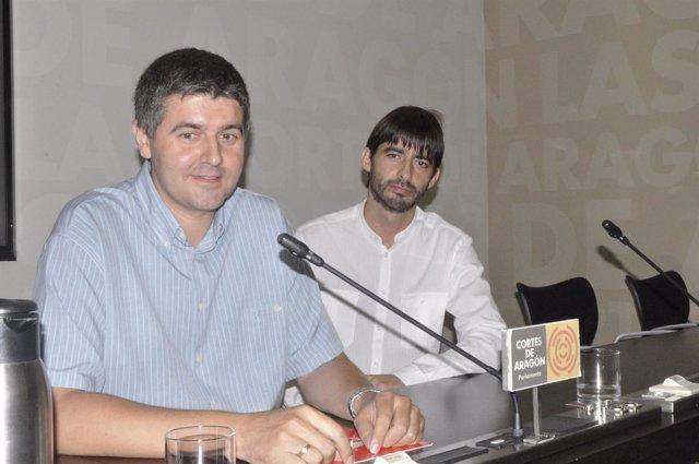 Miguel Aso y Álvaro Sanz, de IU Aragón