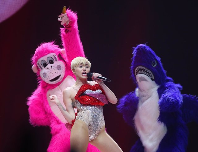 Miley Cyrus performs live on stage