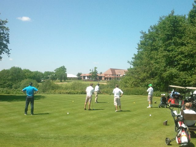 Jugadores de golf en la Andalucía Sol Cup