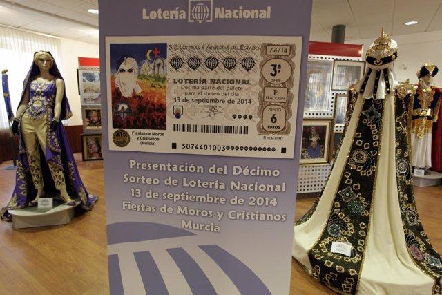 La Lotería Nacional promociona las Fiestas de Moros y Cristianos de Murcia