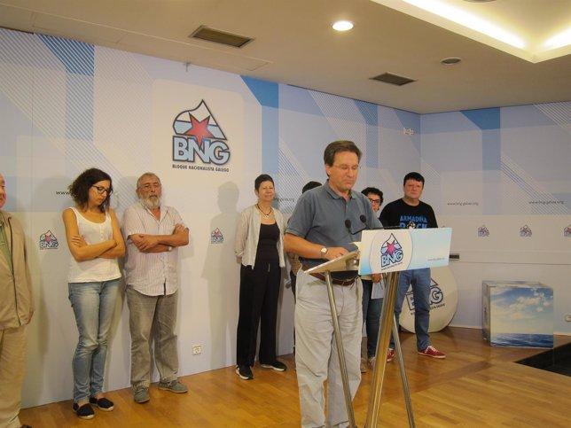 Xavier Vence, portavoz nacional del BNG, en rueda de prensa