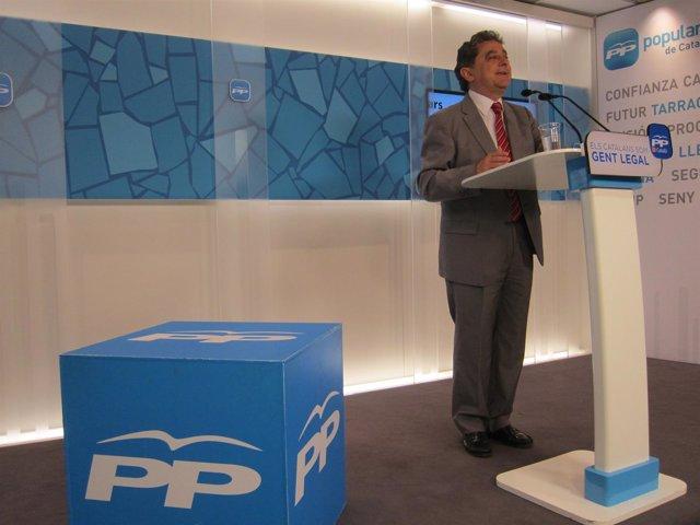 El poravoz del PP en el Parlament, Enric Millo