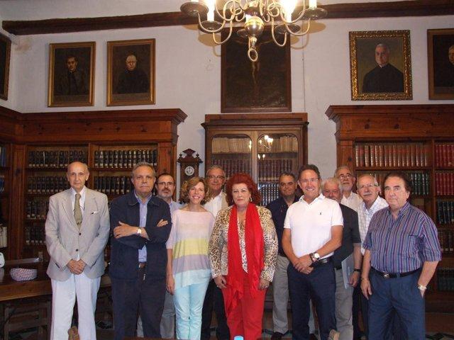 Miembros del CVC en su visita al Patriarca