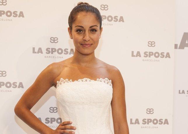 La actriz  Hiba Abouk presenta la nueva coleccion de La Sposa