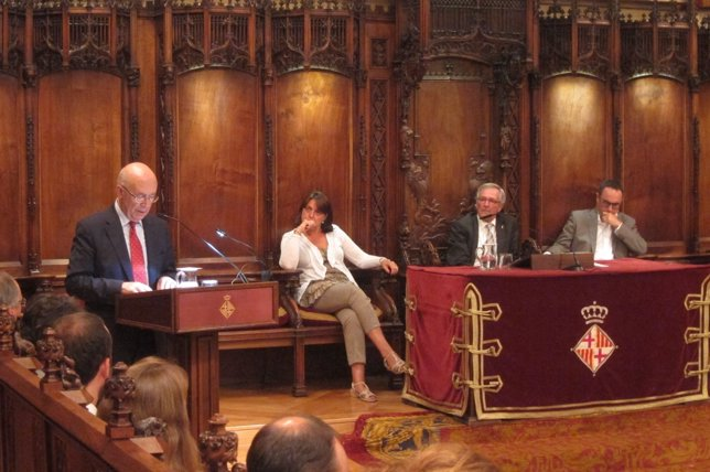 Joan Rigol, concejal Sònia Recasens,alcalde Xavier Trias,concejal Jaume Ciurana