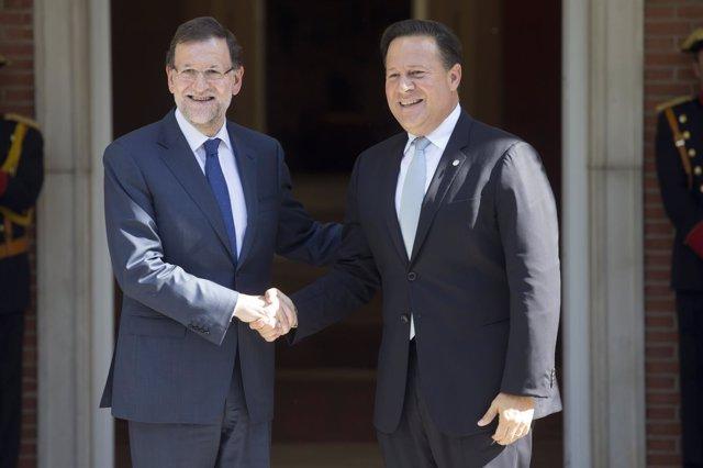 Rajoy y el presidente de Panamá, Juan Carlos Varela