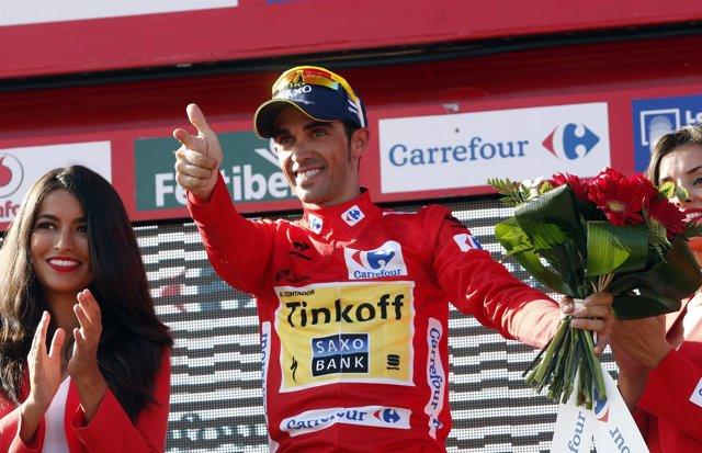 Alberto Contador en la Vuelta a España