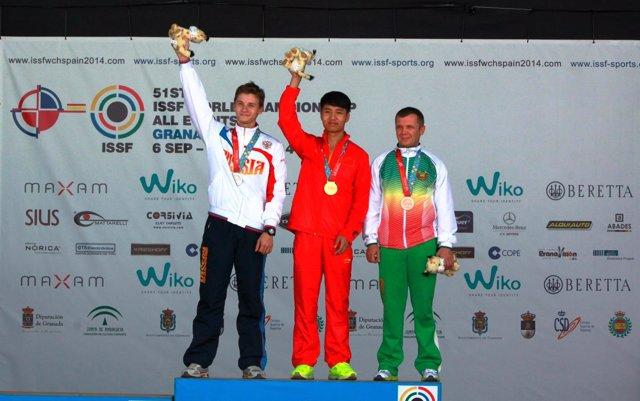 Chino Haoran Yang campeón mundo tiro carabina aire Granada