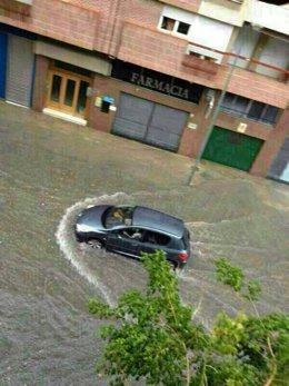 Lluvias caídas en Caravaca como consecuencia de la fuerte tormenta