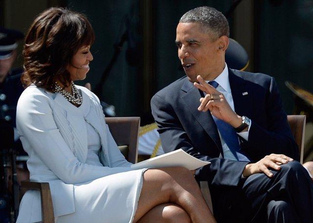 Barack Obama y su mujer Michelle