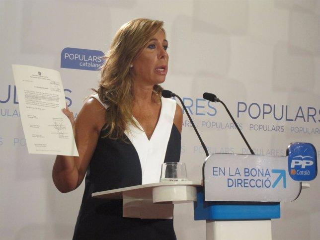 La presidenta del PP catalán Alicia Sánchez-Camacho (PP)