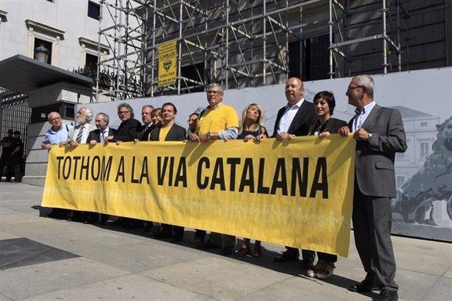 Apoyo Via Catalana en el Congreso