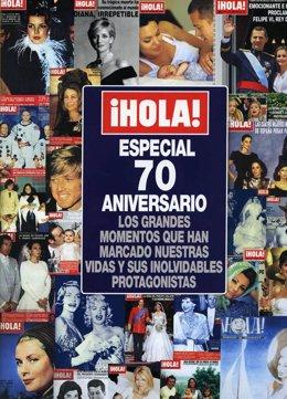 Especial 70 aniversario revista ¡HOLA!