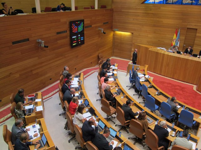 Pleno en el Parlamento de Galicia