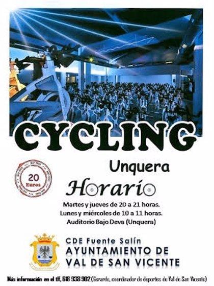 El Ayuntamiento ofrecerá clases de spinning en el Auditorio Municipal Bajo Deva