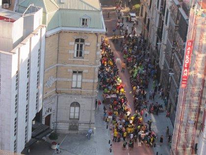 La ANC se anticipa a la Diada en Bilbao con una concentración en 'V' en favor de la consulta