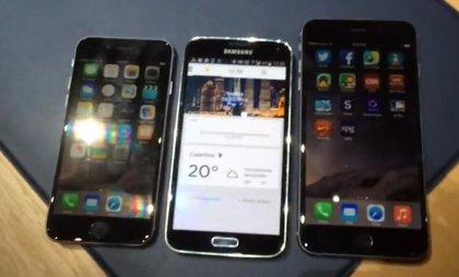 Comparativa del iPhone 6 vs el Samsung Galaxy S5 (vídeo)