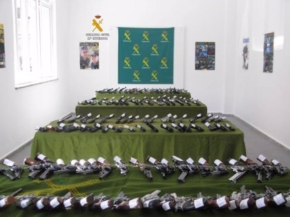 Subasta de 293 lotes de armas en Cuenca