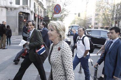 """Aguirre dice que """"nunca"""" ha hecho """"planes"""" y que la Alcaldía le pilla en un momento en el que ha dado un """"paso atrás"""""""