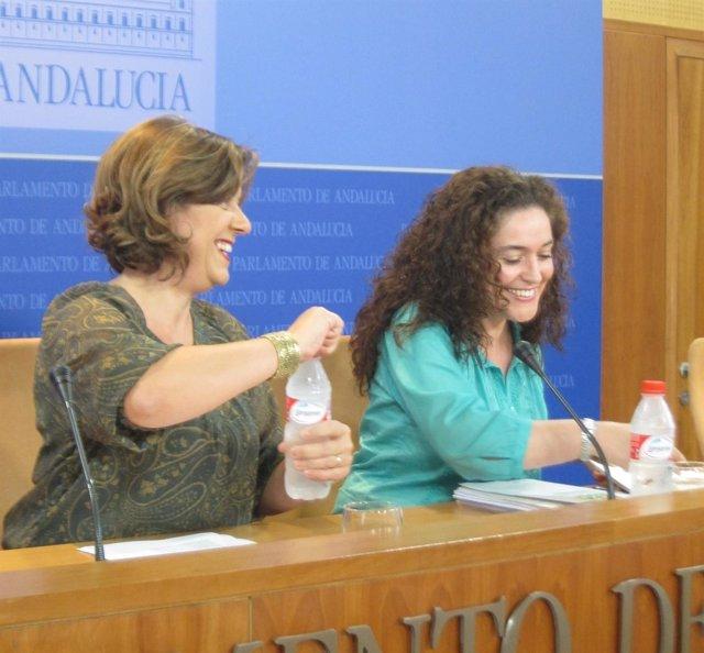 Alba Doblas e Inmaculada Nieto, hoy en rueda de prensa