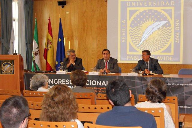 Inauguración del XVI Congreso de Población en la UPO