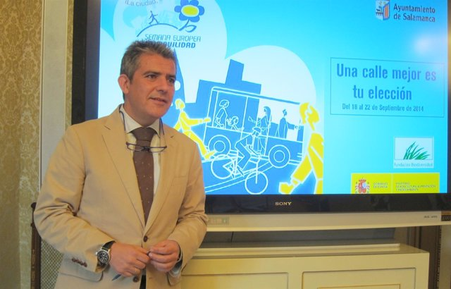 Arroita, en la presentación de la Semana Europea de la Movilidad.