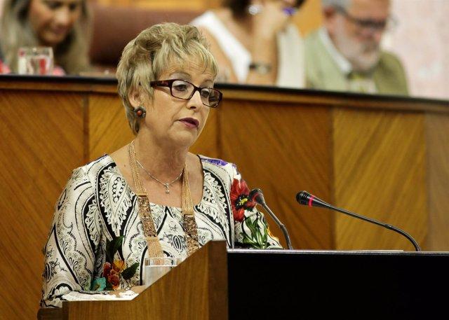 Elena Víboras en el pleno del Parlamento andaluz