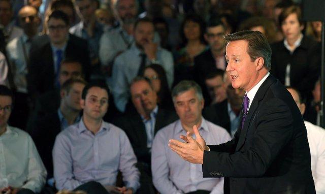 David Cameron en Edimburgo