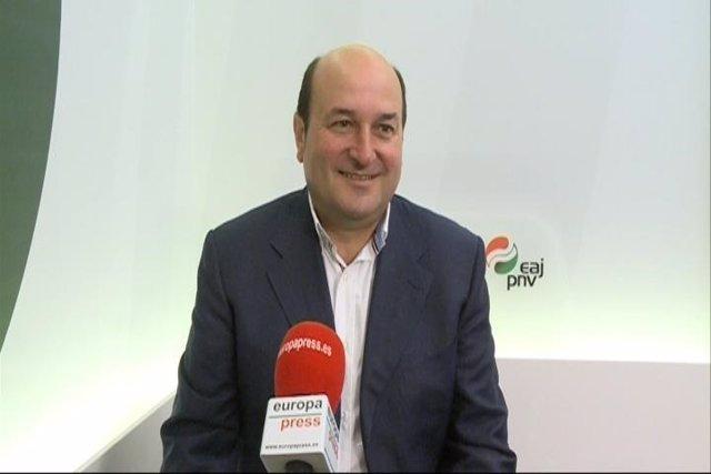 El presidente del Euskadi Buru Batzar (EBB) del PNV, Andoni Ortuzar.