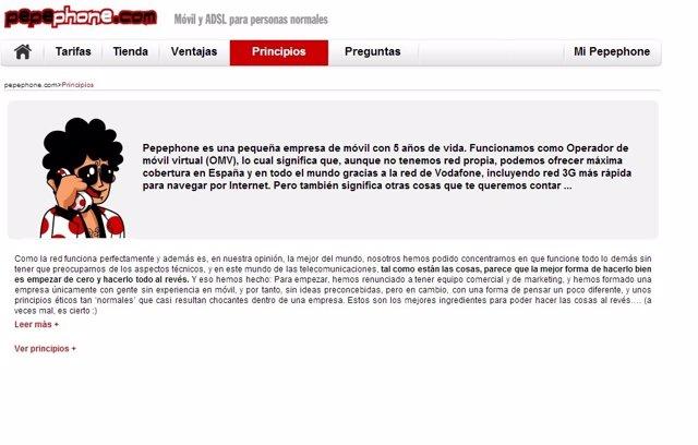 Página web de Pepephone