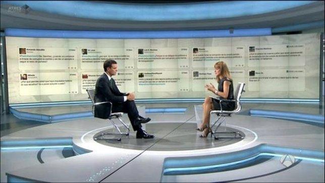 Pedro Sánchez, entrevistado en Antena 3
