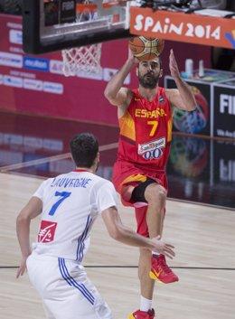 El jugador de la selección española de baloncesto Juan Carlos Navarro