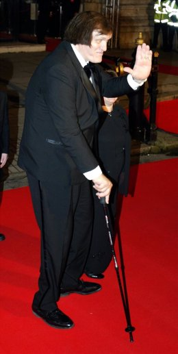 Richard Kiel, who played Jaws in the film Moonraker arrives for the World Premie