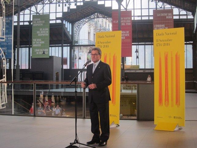 El presidente de la Generalitat, Artus Mas