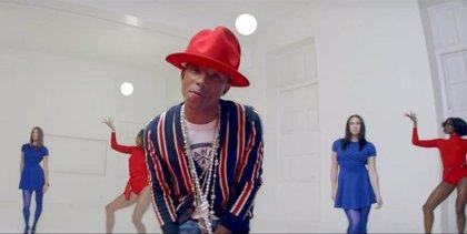 'Happy' de Pharrell Williams, la canción más descargada de la historia en Reino Unido