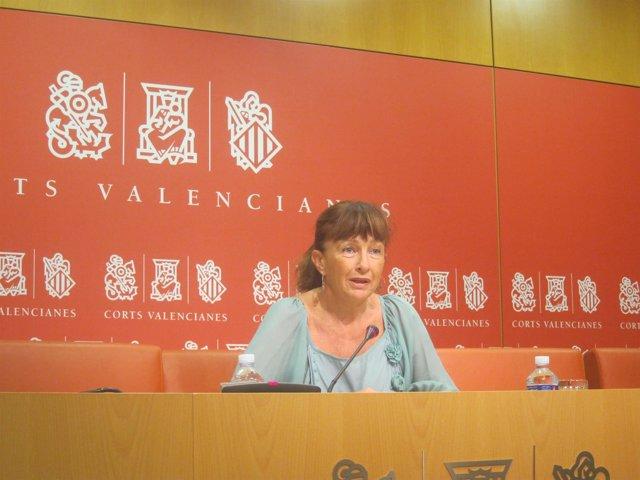 Imagen de archivo de Cristina Moreno (PSPV) En Las Corts