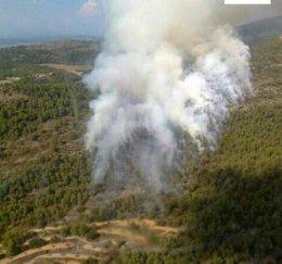 Imagen del incendio de Bocairent