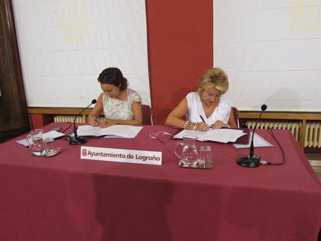 Gamarra y López firman el convenio