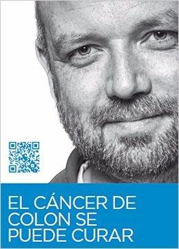 Cartel del programa de detección precoz del cáncer colorrectal.